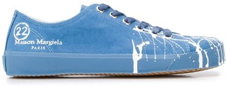 Maison Margiela Tabi paint canvas sneakers