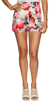Lucca Couture High-Waisted Floral Scallop Hem Short