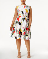 Anne Klein Plus Size Printed Fit and Flare Dress