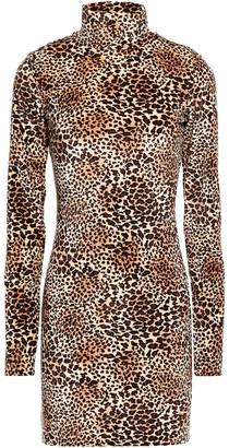 Sprwmn Leopard-print Chenille Mini Dress