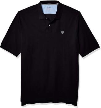 Chaps Men's Big & Tall Black Short Sleeve Classic Fit Everyday Polo Shirt-B&T 3XB