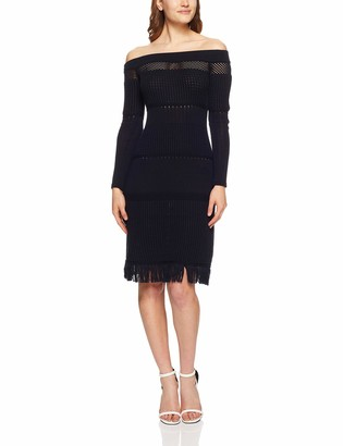 Finders Keepers findersKEEPERS Women's Gravitate Off The Shoulder Fringe Sweater Dress