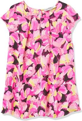 Kasper Women's Cap Sleeve Spring Bouquet Printed Silky Satin Keyhole CAMI