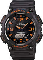 Casio Mens Black Dial Gray Resin Strap Solar Sport Watch AQ-S810W-8A