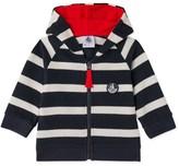 Petit Bateau Baby boys striped zipped sweatshirt