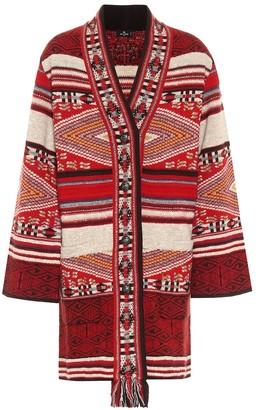 Etro Wool and silk jacquard cardigan