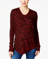 Calvin Klein Jeans Animal-Print Asymmetrical Sweater