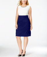 Connected Plus Size Embellished Colorblocked Sheath Dress