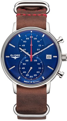 Elysee Unisex Adult Analogue Quartz Watch with Leather Strap 83826