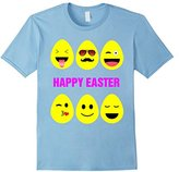 Cute Easter Egg Emoji Face T-Shirt for Boys and Girls