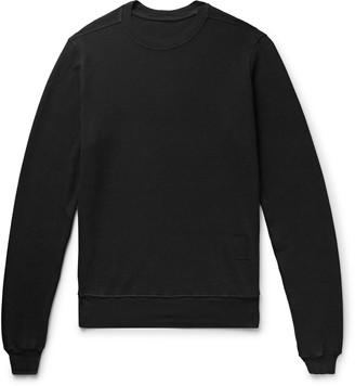 Rick Owens Waffle-Knit Cotton Sweatshirt