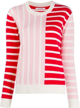 Chinti and Parker Contrasting Panel Striped Jumper