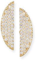 Lana Eclipse 14K Pavé; Diamond Earrings