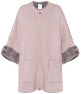 Agnona Mink fur-trimmed cashmere coat