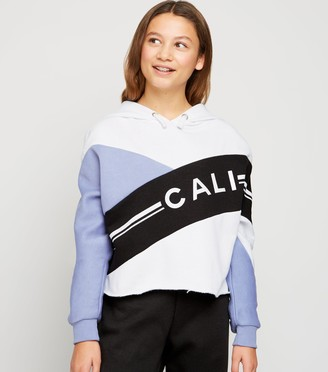 New Look Girls Colour Block Cali Slogan Hoodie