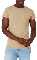 Topman Men's Mr. Muscle Fit Roll Sleeve Linen T-Shirt