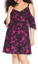 Plus Size Women's Rebel Wilson X Angels Cold Shoulder Crepe Dress