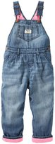 Osh Kosh Fleece Lined Overalls (Toddler) - Denim - 5T