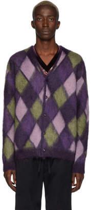 Needles Purple Mohair Mosaic Cardigan