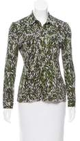 Tory Burch Silk Abstract Printed Top
