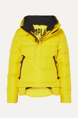 TEMPLA 2l Bio Cropped Hooded Quilted Shell Down Jacket - Yellow