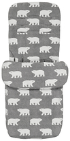 John Lewis Polar Bear Pushchair Footmuff, Grey