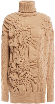 Simone Rocha Cable-knit Wool And Cashmere-blend Turtleneck Sweater