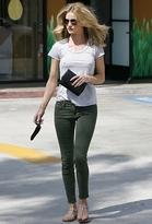 Gwen Stefani J Brand 8711 Roz Trapunto Stitched Pant in Vintage Mantis as Seen On Rosie Huntington-Whiteley and
