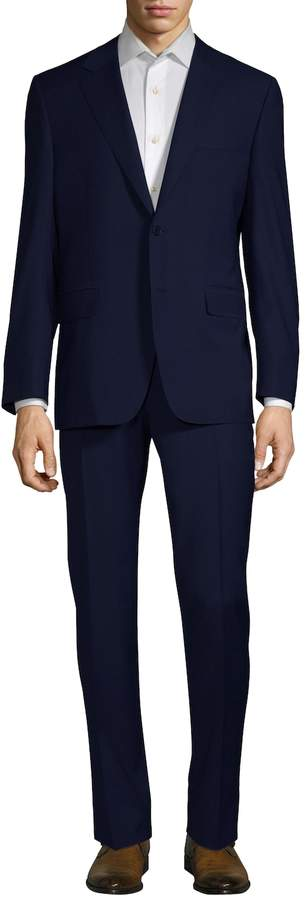 Canali Men's Solid Wool Suit