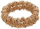 Dana Buchman Interlocked Ring Double Row Stretch Bracelet