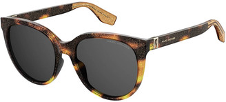 Marc Jacobs Round Glittered Acetate Sunglasses