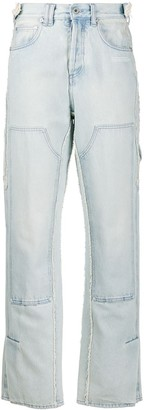 Off-White Off White patch detail straight jeans