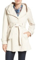 Gallery Jacquard Hooded Coat