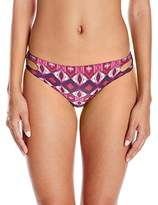 Roxy Women's Printed Strappy Love Reversible Scooter Bikini Bottom