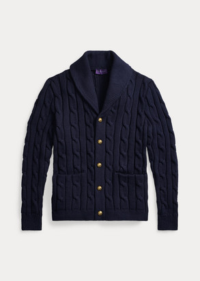 Ralph Lauren Cable Cotton-Blend Cardigan