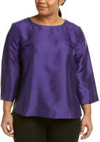 Marina Rinaldi Plus Boiserie Silk Top