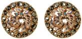 Judith Jack 10K Gold Plated CZ & Marcasite Halo Stud Earrings