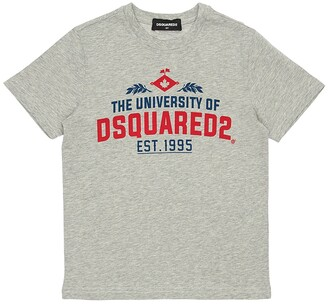 DSQUARED2 University Printed Cotton Jersey T-shirt