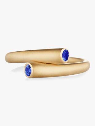 Carelle Whirl Single Sapphire Ring