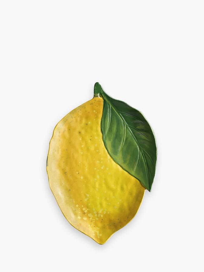 Thumbnail for your product : Epicurean Lemon Fresh Melamine Picnic Platter, 44cm, Yellow