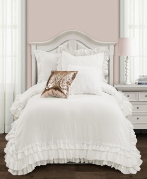 White Twin Ruffle Comforter Style