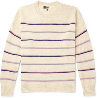 Isabel Marant Obli Striped Alpaca-Blend Sweater