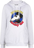 Moschino Mickey Rat cotton hoodie