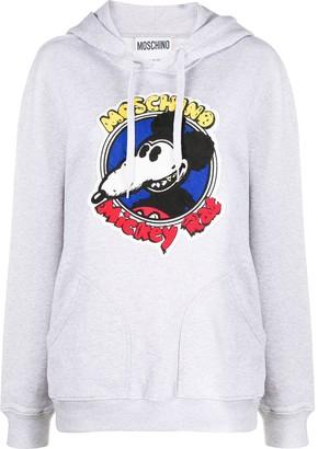 Moschino Mickey Rat cotton hoodie