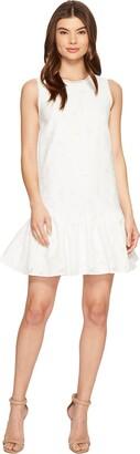 Maggy London Women's Circle Cut Out Back Drop Waist Dress