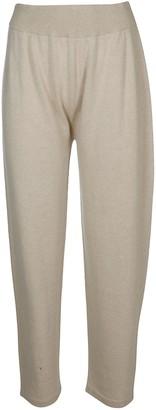 Agnona Beige Cashmere Track Pants