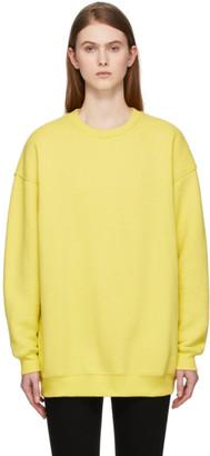 Acne Studios Yellow Reverse Label Sweatshirt