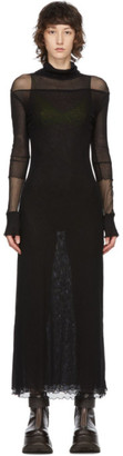 Sunnei Black Mesh Triple Dress