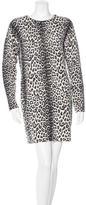 Magaschoni Cashmere Leopard Print Sweaterdress
