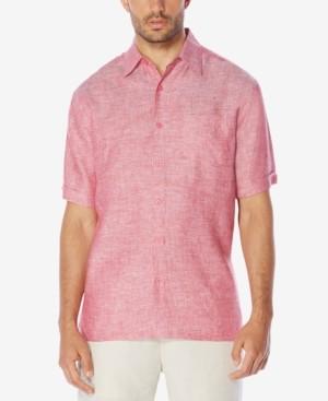 Cubavera Men's 100% Linen Short-Sleeve Shirt